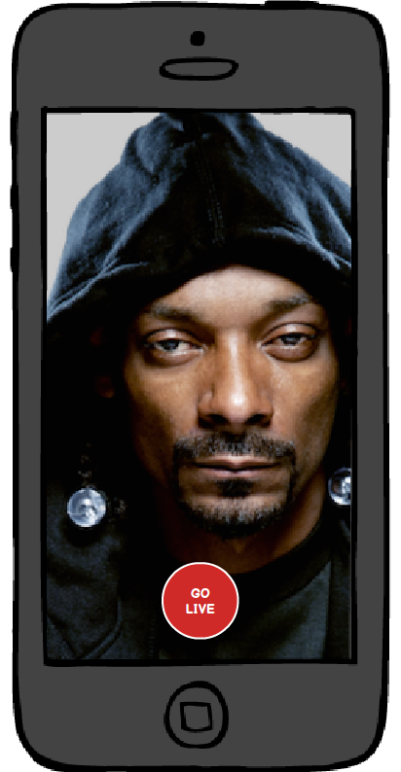 Snoop Dogg about to Go Live